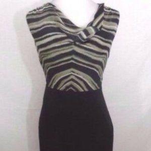 THE LIMITED Black Animal Print Sexy Dress size 2